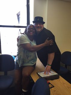 August/2015 this month I honor Elizabeth Tirado (pictured on left with me) as well as the entire Howie the Harp Center and School Fall 2015 peer advocacy class, for each and everyone being my personal heroes and for being the mental health movements future change makers!
