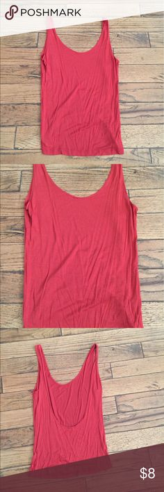 Low back tank Red / Rust Orange low back tank - like new condition Urban Outfitters Tops Tank Tops