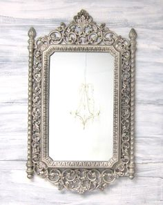 1000 images about french provincial scroll work on for Silver framed mirrors on sale