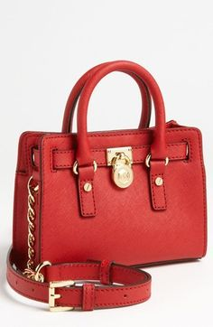 MICHAEL Michael Kors 'Hamilton - Mini' Leather Messenger Bag on shopstyle.com