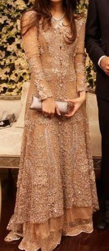 Élan by Khadija Shah ... SPEECHLESS ... GORGEOUS ... BEAUTIFUL DELICATE NUDE GOWN WITH INTRICATE BEADED DETAILING ALL OVER ... AND THE CLUTCH ... THIS WHOLE ENSEMBLE SCREAM BOHEMIAN STYLE PERFECTION
