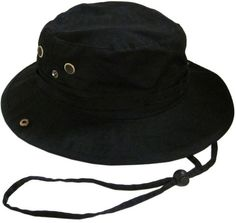 72d5525ef0852 Bucket Hat Boonie Hunting Fishing Outdoor Cap Washed Cotton NEW W STRINGS