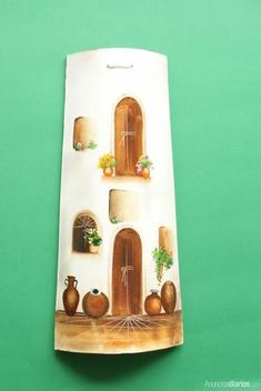 Bottle Art, Bottle Crafts, Painted Rocks, Hand Painted, Cactus Painting, Clay Tiles, Roof Tiles, Miniature Houses, Stone Painting