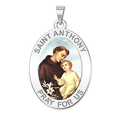 PicturesOnGold.com Saint Anthony Religious Medal Color 10K And14K Yellow or White Gold, or Sterling Silver