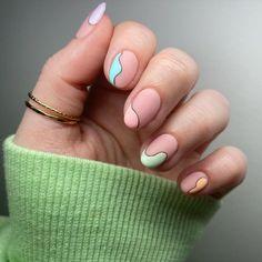 Cute Acrylic Nail Designs, Cute Acrylic Nails, Cute Nails, Nail Art Designs, Gel Nails, Nail Polish, Pink Wedding Nails, How To Cut Nails, Minimalist Nails