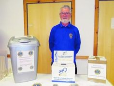 Philip Barry of the Woodley and Earley Lions Club has collected 30,000 pairs of glasses for recycling in the past six years.