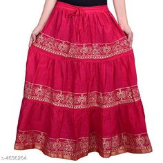 Ethnic Bottomwear - Skirts Stylish Women's Skirt Fabric: Cotton Size: Up To 28 in To 36 in (Free Size) Length: Up To 40 in Type: Stitched Description: It Has 1 Piece Of Women's Skirt  Work: Printed Country of Origin: India Sizes Available: Free Size, 34, 36, 38, 40, 42, 44   Catalog Rating: ★4.1 (1781)  Catalog Name: Graceful Stylish Women's Skirts Vol 3 CatalogID_682105 C74-SC1013 Code: 943-4696264-048