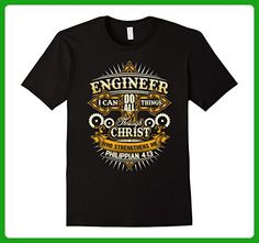 Mens I Can Do All Things T-Shirt Best Engineer Ever Medium Black - Careers professions shirts (*Amazon Partner-Link)