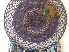 Big Indigo and Peacock Dream Catcher! Peacock, Dream Catcher, Indigo, Clever, Owl, Bird, Friends, Amigos, Dreamcatchers