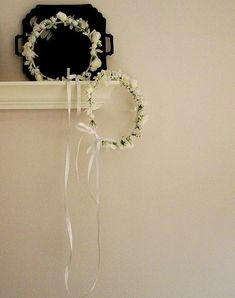 Wedding Stefana Bridal Greek Flower crown White Head by AmoreBride, $87.95