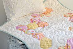 "Quilt - Mini Quilt - Pastel pinks - ""Kitty-cat Mat"" - Bridges & Balloons on Etsy, $40.66"