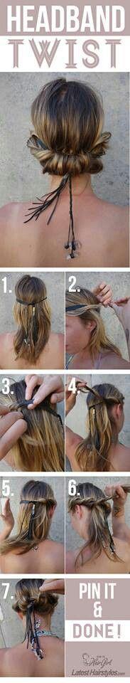Headband Twist- tried this and it is soooo easy and supadupa cute!