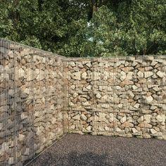 Gabion Retaining Wall, Landscaping Retaining Walls, Backyard Landscaping, Cheap Retaining Wall, Retaining Wall Design, Gabion Cages, Commercial Landscape Design, Metal Fence Panels, Gabion Baskets