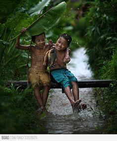 Pure Happiness, enjoying monsoon rain