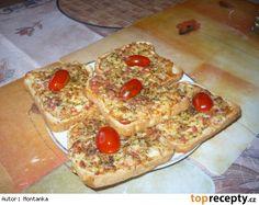 Dřevorubecký toast(gothaj,vejce,sýr,česnek,koření) Pepperoni, Vegetable Pizza, Pancakes, French Toast, Treats, Vegetables, Cooking, Breakfast, Sweet Like Candy