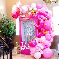 Barbie Party Decorations, Barbie Theme Party, Barbie Birthday Party, Spa Birthday Parties, Birthday Decorations, Birthday Party Themes, Pink Birthday, Balloon Decorations, 5th Birthday