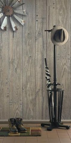 DPI™ Woodgrains 4 x 8 Caribou Oak Hardboard Wall Panel Wood Panel Walls, Pole Barn Designs, Four Seasons Room, Oak Panels, Ceiling Treatments, Statement Wall, Weathered Wood, Wood Texture