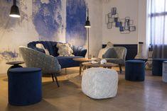 Hôtel Les Bulles de Mer (Saint-Cyprien) - annabellefesquet-decoratrice Hotel Boheme, Decoration, Bean Bag Chair, Throw Pillows, Bed, Saint, Furniture, Restaurant, Home Decor