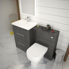 bathroom furniture sets for home suitable add bathroom furniture sets building suitable add europe bathroom furniture sets Freestanding Vanity Unit, Basin Vanity Unit, Vanity Units, Grey Furniture Sets, Fitted Bathroom Furniture, Furniture Vanity, Grey Bathrooms, Small Bathroom, Master Bathroom