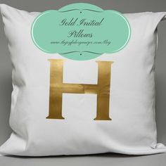 Initial Pillows & Gift Bags made with the Silhouette & Heat Transfer