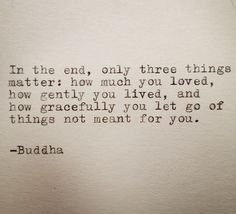 Buddha Quote Typed on Typewriter