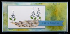 Chocolate birthday card using Magnolia image (Stone path) colored with Copics. Cardstock from Papertrey Ink, watercolor paper colored with distress ink. Chocolate bar inside.