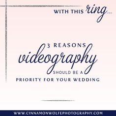 Should I hire a videographer for my wedding? | Cinnamon Wolfe Photography | North NJ Wedding Photographer
