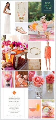 Pink Orange Gold  #color #palette by DM's
