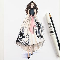 Holly Nichols: One of my favorite sketches @anthropologie dresses