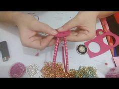 Arco duplo com strass e chaton de pérolas com strass - YouTube