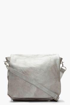 Maison Martin Margiela Mottled Silver Camel Leather Bag