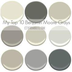Top 10 Favorite Benjamin Moore Grays-City Farmhouse