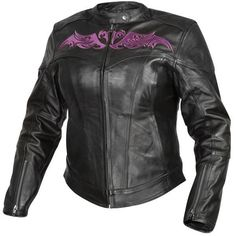 Xelement Womens Black Purple Armored Soft Cowhide Leather Motorcycle Jacket  | Clothing, Shoes & Accessories, Women's Clothing, Coats & Jackets | eBay!