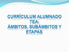 """""""Currículum Alumnado TEA"""" #TEA #autismo #AutismDay2016"""