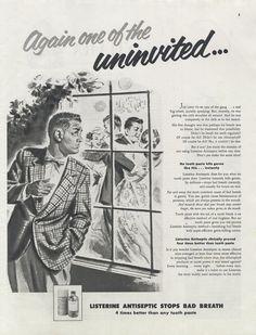 1955 Listerine Mouthwash Funny Vintage by AdVintageCom on Etsy