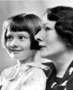 Audrey Hepburn with her mother Ella, baroness van Heemstra Really? E. P.