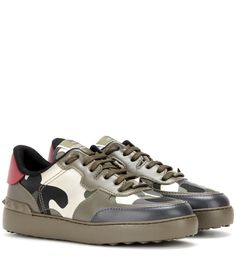 a535404497f1 Valentino - Rockstud leather sneakers - Worried the sneaker is too  laid-back for your
