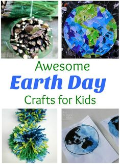 Awesome roundup of Earth Day activities and crafts! Perfect for preschoolers and kindergartners this spring!