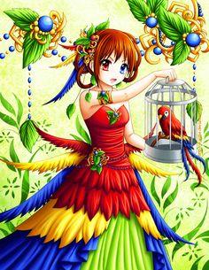 Macaw by Eranthe.deviantart.com on @deviantART