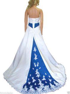 Faironly Satin Applique Custom Wedding Dress Bridal Gown Size 6 8 10 12 14 16+++
