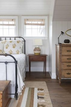 Earth tones in this charming bedroom designed by Katie Martinez Design. Earth tones in this charming bedroom designed by Katie. Home Decor Bedroom, Bedroom Ideas, Bedroom Curtains, 1920s Bedroom, Bedroom Signs, Bedroom Themes, Diy Bedroom, Design Bedroom, Bedroom Inspiration