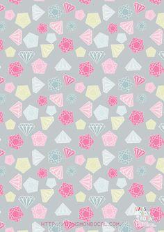 Free Printable Diamond Wrapping Paper