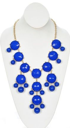 Bauble Burst Necklace in Royal - Jewelry