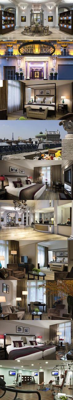 Paris Marriott Opera Ambassador Hotel. Hotel Marriott Paris Opera Ambassador is in the heart of Paris near the Opera Garnier and Les Grands Boulevards. Its stylish guest rooms have satellite TV and free WiFi. #Paris