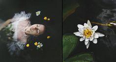 Diptych: Water Flower by NataliaDrepina.deviantart.com on @deviantART