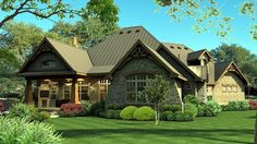 House Plan 65869, Order Code PT101 | Cottage Craftsman Tuscan Plan with 2847 Sq. Ft., 3 Bedrooms, 3 Bathrooms, 3 Car Gar