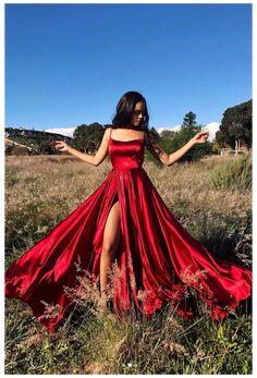 Prom Dresses With Pockets, Pretty Prom Dresses, Simple Prom Dress, Hoco Dresses, Cheap Prom Dresses, Cute Dresses, Matric Dance Dresses, Senior Prom Dresses, Red Ball Dresses