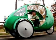 It's really a three-wheeled, fibreglass, electric assist velomobile that goes a long way to fill the niche between a bicycle and a car.   And it offers advantages over both.  Rob Cotter, the man behind the Elf's maker, Organic Transit in Durham, North Carolina is touting the Elf as the cleanest and most efficient vehicle on the planet.