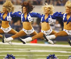 love the dallas cowboy cheerleaders.