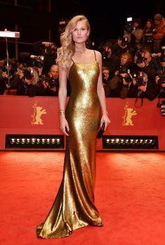 Toni Garrn shines in her custom-made BOSS gown at the Berlinale. Discover the BOSS Womenswear Spring/Summer collection at www.hugoboss.com